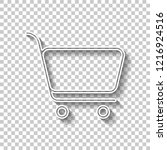 shopping cart icon. simple... | Shutterstock .eps vector #1216924516