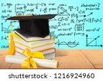 graduation mortarboard on top...   Shutterstock . vector #1216924960