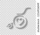 wheelchair and heart  outline... | Shutterstock .eps vector #1216926049