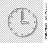 simple clock icon. white...   Shutterstock .eps vector #1216929610