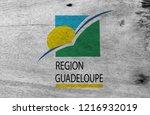 flag of guadeloupe region on...   Shutterstock . vector #1216932019