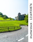 beautiful architecture at vaduz ... | Shutterstock . vector #1216933876