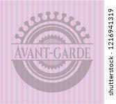avant garde pink emblem   Shutterstock .eps vector #1216941319