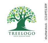 tree logo vector | Shutterstock .eps vector #1216951309