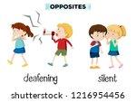 opposites deafening and silent... | Shutterstock .eps vector #1216954456