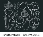 hand drawn illustration with... | Shutterstock .eps vector #1216959013