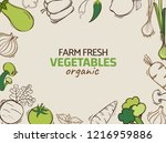 hand drawn illustration with... | Shutterstock .eps vector #1216959886