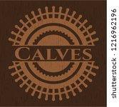 calves realistic wooden emblem | Shutterstock .eps vector #1216962196