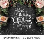 christmas and new year... | Shutterstock . vector #1216967503