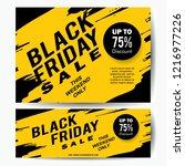 black friday sale banner... | Shutterstock .eps vector #1216977226