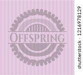 offspring pink emblem | Shutterstock .eps vector #1216978129