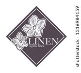 linen natural 100 hundred... | Shutterstock .eps vector #1216984159