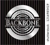 backbone silver emblem or badge | Shutterstock .eps vector #1216985419