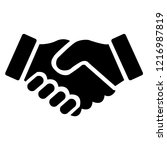 shake hands friendship of... | Shutterstock .eps vector #1216987819