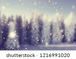blured winter snow covered... | Shutterstock . vector #1216991020