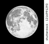 full moon in space over black... | Shutterstock . vector #1216991293