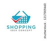 shopping concept logo design | Shutterstock .eps vector #1217005660