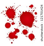 blood set | Shutterstock .eps vector #121701424