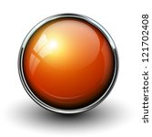 orange shiny button with... | Shutterstock .eps vector #121702408