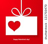 valentine's applique card... | Shutterstock .eps vector #121703470
