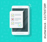 online form survey on... | Shutterstock .eps vector #1217037289