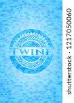 twine realistic light blue...   Shutterstock .eps vector #1217050060