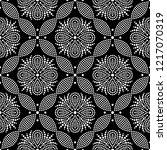 black and white seamless... | Shutterstock .eps vector #1217070319