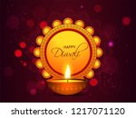 illuminated oil lamp with... | Shutterstock .eps vector #1217071120
