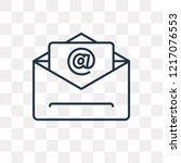 mail vector outline icon... | Shutterstock .eps vector #1217076553