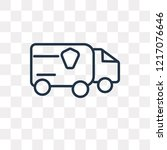 lorry vector outline icon... | Shutterstock .eps vector #1217076646