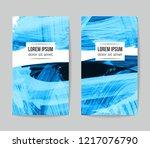 set of vector business card...   Shutterstock .eps vector #1217076790