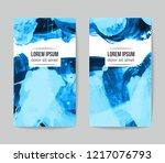 set of vector business card...   Shutterstock .eps vector #1217076793