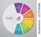 modern 6 steps cycle chart... | Shutterstock .eps vector #1217078386
