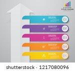 5 steps of arrow infografics...   Shutterstock .eps vector #1217080096