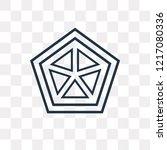 cobweb vector outline icon... | Shutterstock .eps vector #1217080336