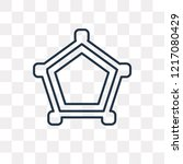cobweb vector outline icon... | Shutterstock .eps vector #1217080429