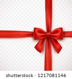 bow isolated on transparent... | Shutterstock .eps vector #1217081146