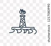 oil rig vector outline icon... | Shutterstock .eps vector #1217083990