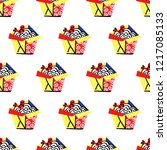 seamless vector pattern with... | Shutterstock .eps vector #1217085133