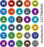 white solid icon set  signpost... | Shutterstock .eps vector #1217086960