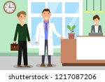 medicine concept with doctor... | Shutterstock .eps vector #1217087206