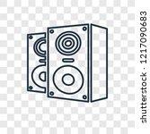 speakers concept vector linear... | Shutterstock .eps vector #1217090683