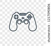 game controller concept vector...   Shutterstock .eps vector #1217090806