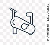 stationary bike vector outline... | Shutterstock .eps vector #1217093659