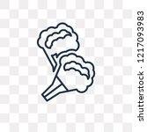 broccoli porcion vector outline ... | Shutterstock .eps vector #1217093983