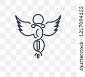 caduceus vector outline icon... | Shutterstock .eps vector #1217094133