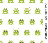 frogs seamless background.... | Shutterstock .eps vector #1217094490