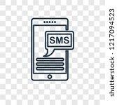 sms concept vector linear icon... | Shutterstock .eps vector #1217094523