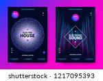 electronic sound flyer. music... | Shutterstock .eps vector #1217095393