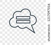 speech bubble concept vector... | Shutterstock .eps vector #1217097016